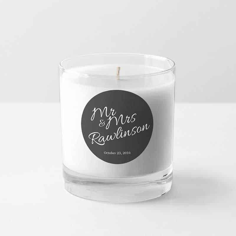 wedding candle sticker