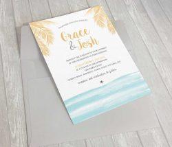 Wedding Invitation - Gold Foiling