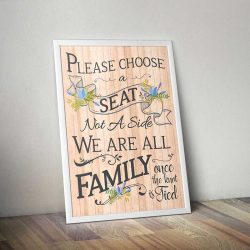 Wedding Seating Poster