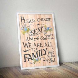 Wedding Seating Poster