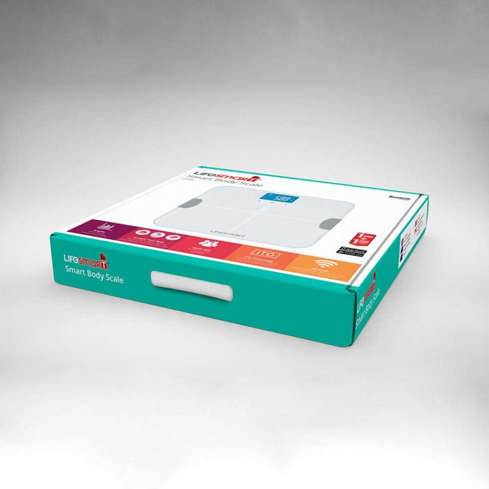 Lifesmart Body Scale carton box packaging