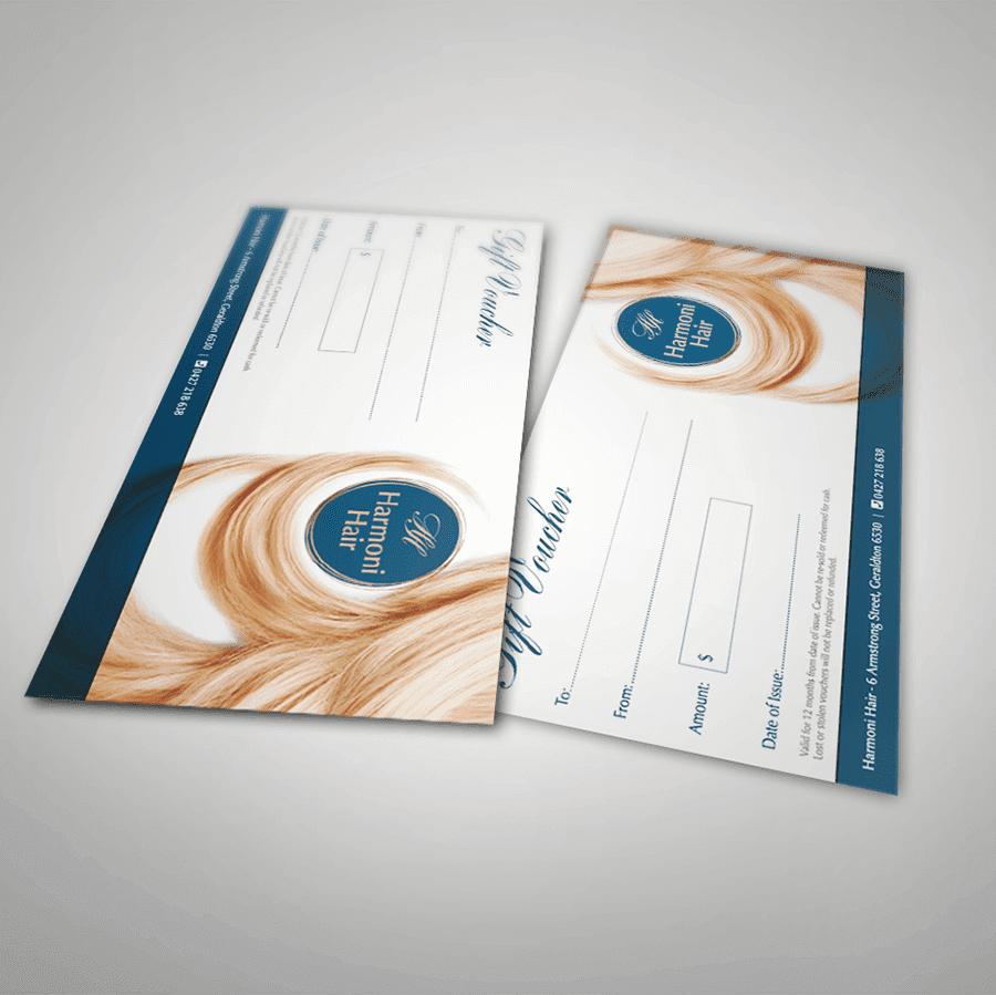 portfolio - gift voucher - printing - graphic design