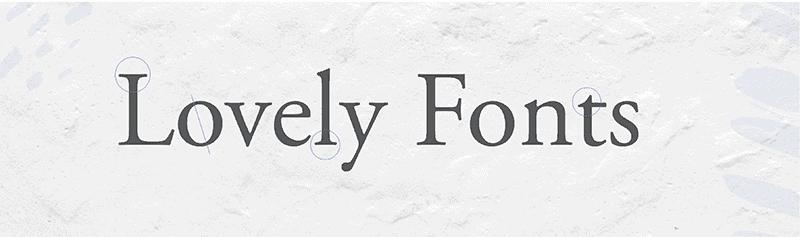 serif - branding design - font choices