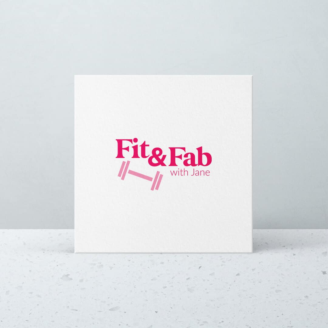 fit and fab with Jane - portfolio - branding - printing - graphic design